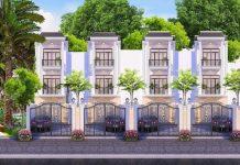 Phối cảnh dự án nhà phố Louis Resident Dĩ An Bình Dương