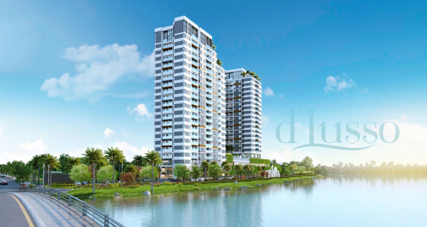 Phối cảnh tổng thể dự án căn hộ D'lusso Emerald